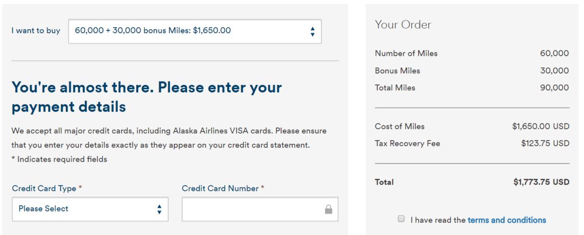 Alaska Airlines 里數買二送一限時優惠!
