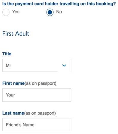 可以用 Avios 幫朋友換機票嗎?