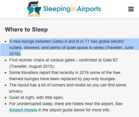 飛行紀錄:台北桃園機場的免費貴賓室