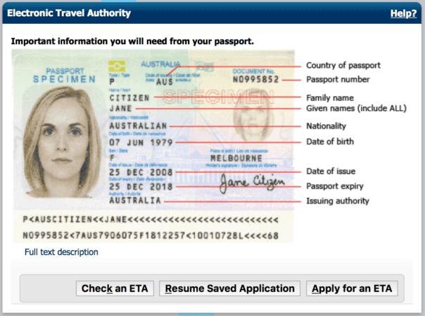 簽證實測:澳洲網上簽證 eTA 教學